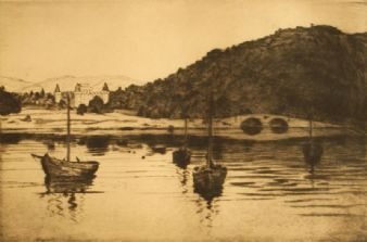 Robert Houston 'Loch Fyne, Inveraray', Scotland